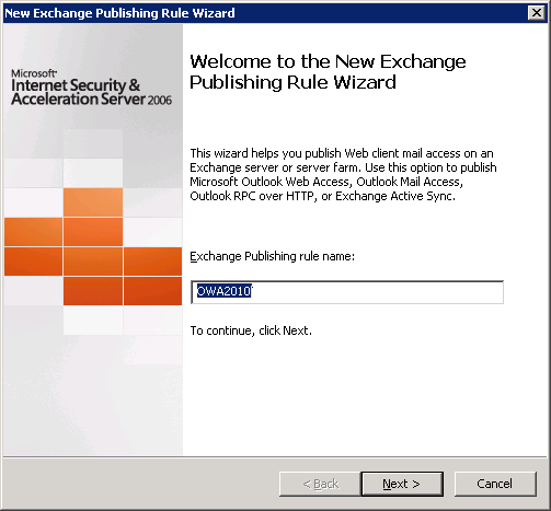 New OWA 2010 Publishing Rule