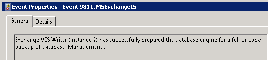 MSExchangeIS Event ID 9811