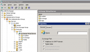 Creating New Virtual Directory With System Manager Grayed out